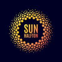 Poster zon. halftone vector