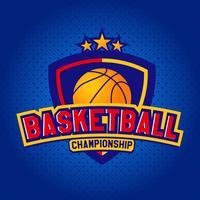 Basketbal, sjablonen van sport T-shirt vector