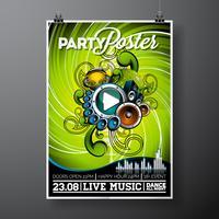 Partij folder illustratie vector