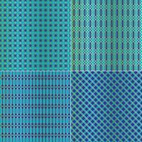 blauw goud metallic Marokkaanse geometrische tegelpatronen vector