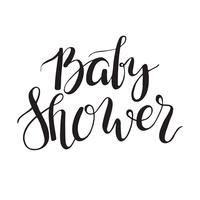 Baby shower tekst. Aangepaste belettering Uitnodiging voor aankomst van de baby.