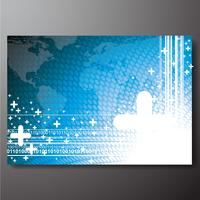 Zakelijke achtergrond met wereldkaart vector