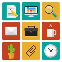 Office-elementen vector