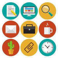Office-pictogrammen vector