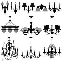 Kroonluchter Licht Lamp. vector