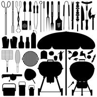 Barbecue silhouet Vector Set