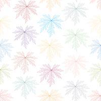 Het kleurrijke skelet verlaat naadloze achtergrond. vector