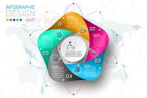 Zakelijke stap opties en abstracte infographics nummer opties sjabloon.