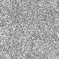 Vingerafdruk naadloze achtergrond op vierkante vorm. vector