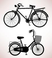 Oude fiets silhouet. vector