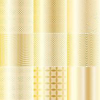 Goud en wit Op Art-patronen vector