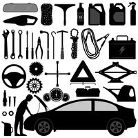 Auto-accessoires en gereedschappen vector