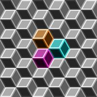 3d doos naadloos patroon op grijze toon.