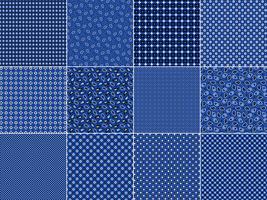 Blauwe Bandana-patronen