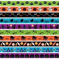 heldere halloween grenspatronen vector