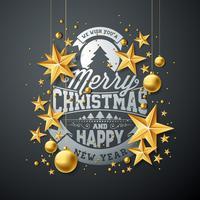 Kerstmis en Nieuwjaar illustratie