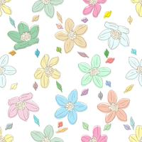 Bloemenelement op heldere naadloze achtergrond. vector