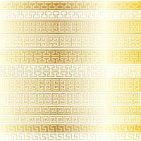 metallic gouden fretwork grenspatronen vector