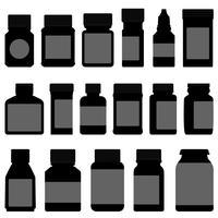 Geneeskunde opslagcontainer fles. vector
