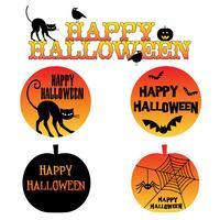 grafische halloween met oranje verloop effect vector