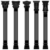 Antieke pilaar kolom vector