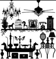 Antieke huisdecoratie vector