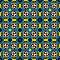 Talavera oblana Mexicaans naadloos patroon vector