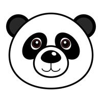 Schattig Panda Vector. vector