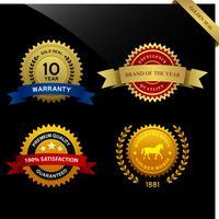 Garantievoorwaarden Seal Ribbon Award. vector