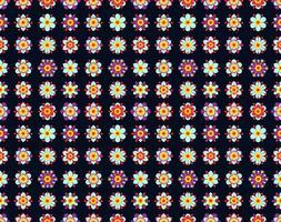 Naadloos patroon van uitstekende gele bloemen.