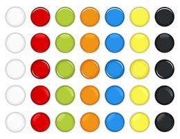 Kleurrijke glanzende knop Vector. vector