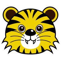 Schattig Tiger Vector.