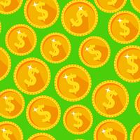 Naadloze textuur met gouden munten