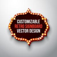 Retro uithangbord of lichtbak illustratie vector