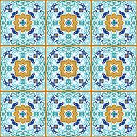 Talavera-tegel. Levendig Mexicaans naadloos patroon, vector