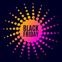 Black Friday-verkoop. Halftone punten
