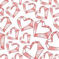 Naadloos patroon met valentijnskaartharten, schetstekening voor uw ontwerp