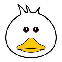 Schattig Duck Vector.