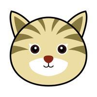 Cute Cat Vector.