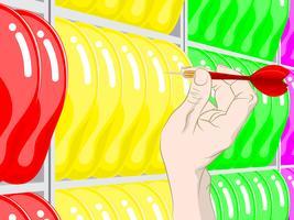 ballon dartspel vector