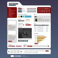 Web ontwerp element sjabloon. vector