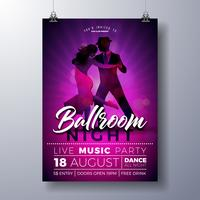 Ballroom Night Party Flyer illustratie vector