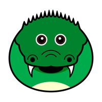 Schattig krokodil Vector.