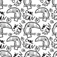 Tropische toucan Naadloos patroon. vector