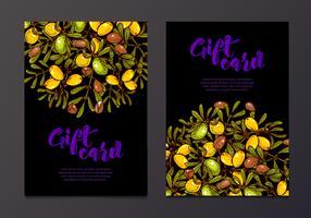 Olie achtergrond eco flyers ontwerpen cadeaubonnen vector