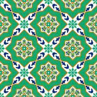 Spaanse klassieke keramische tegels. Naadloze patronen.