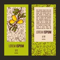 Set van eco flyers ontwerp lay-outs in natuurlijke kleuren. vector