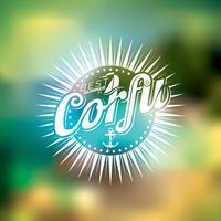 Vector beste zomer in Corfu illustratie met typografisch ontwerp