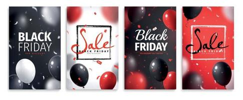 zwarte vrijdag banner set vector