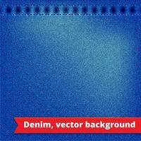 Blauwe denim textuur achtergrond vector